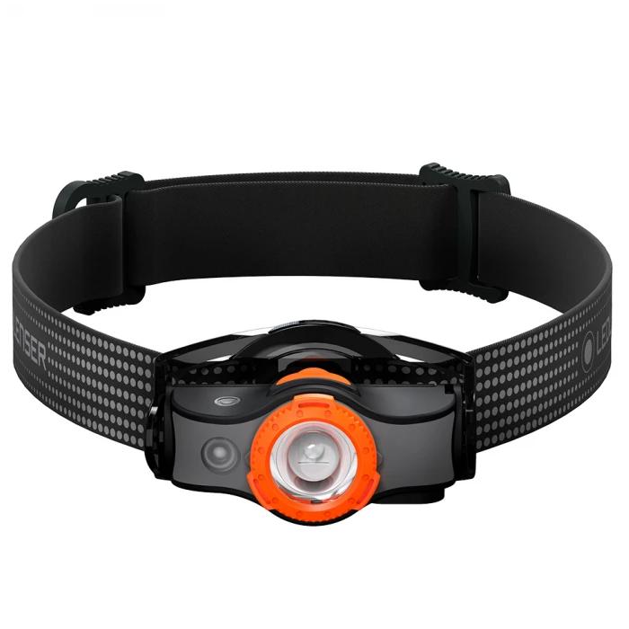 Налобный фонарь LED LENSER MH3 (черно-оранжевый) (+ Антисептик-спрей для рук в подарок!)