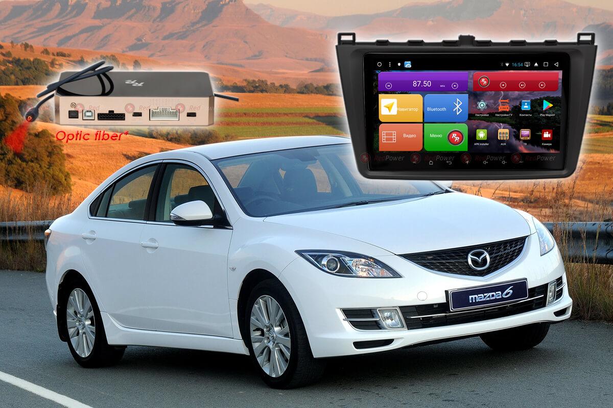 Автомагнитола для Mazda 6 (2009-2012 гг.) RedPower K 51002 R IPS DSP ANDROID 8+ (+ Камера заднего вида в подарок!)