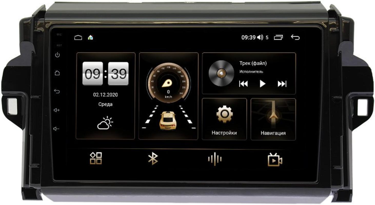 Штатная магнитола Toyota Fortuner II 2015-2020 LeTrun 3792-9106 на Android 10 (4/64, DSP, QLed) С оптическим выходом (+ Камера заднего вида в подарок!)