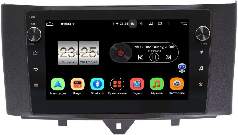 Штатная магнитола LeTrun BPX409-9251 для Smart Fortwo II 2011-2015 на Android 10 (4/32, DSP, IPS, с голосовым ассистентом, с крутилками) (+ Камера заднего вида в подарок!)