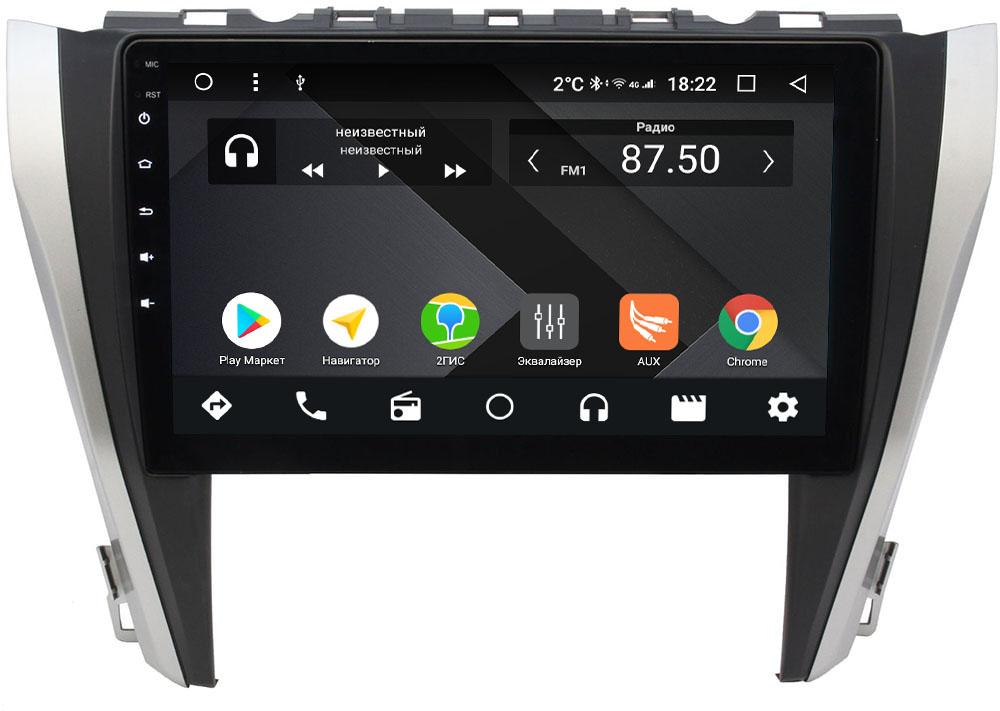 Штатная магнитола Toyota Camry V55 2014-2018 Wide Media CF1027-OM-4/64 на Android 9.1 (TS9, DSP, 4G SIM, 4/64GB) (для авто с камерой, JBL) (+ Камера заднего вида в подарок!)