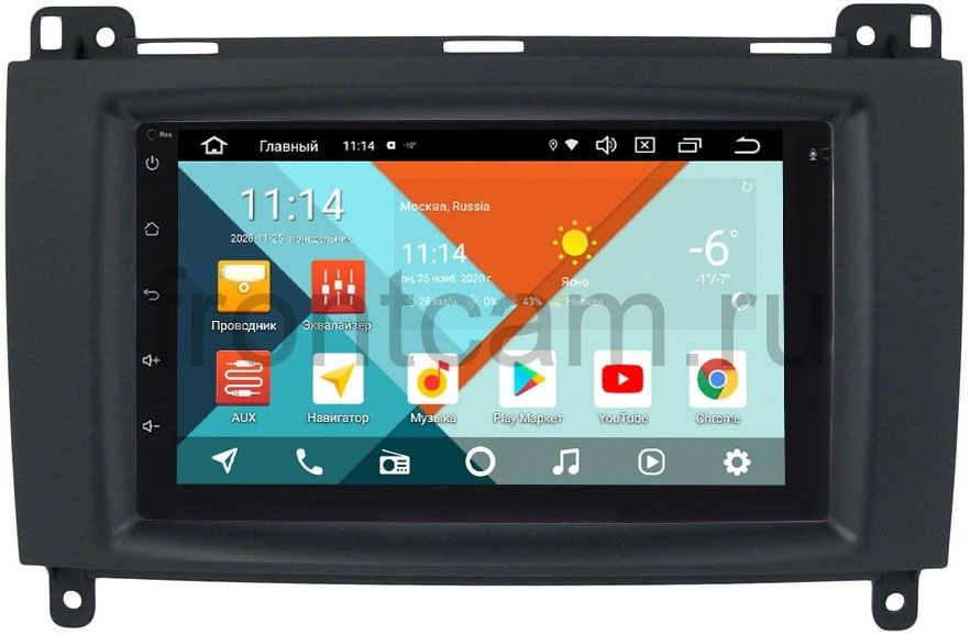 Штатная магнитола Mercedes A-klasse (W169), B-klasse (W245), Vito, Viano, Sprinter 2004-2012 Wide Media MT7001PK-2/16-RP-MRB-57 на Android 9.1 (DSP 3G-SIM) (+ Камера заднего вида в подарок!)