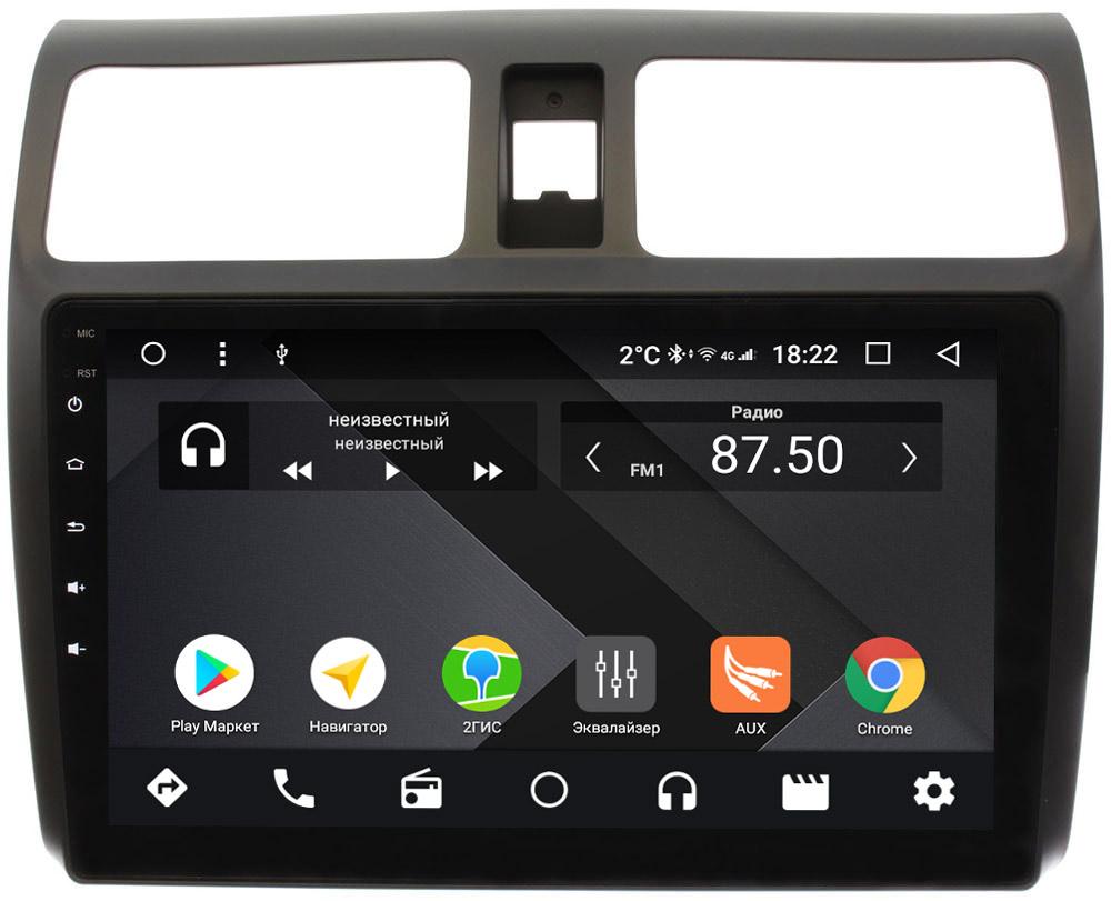 Штатная магнитола Suzuki Swift III 2004-2010 Wide Media CF1024-OM-4/64 на Android 9.1 (TS9, DSP, 4G SIM, 4/64GB) (+ Камера заднего вида в подарок!)