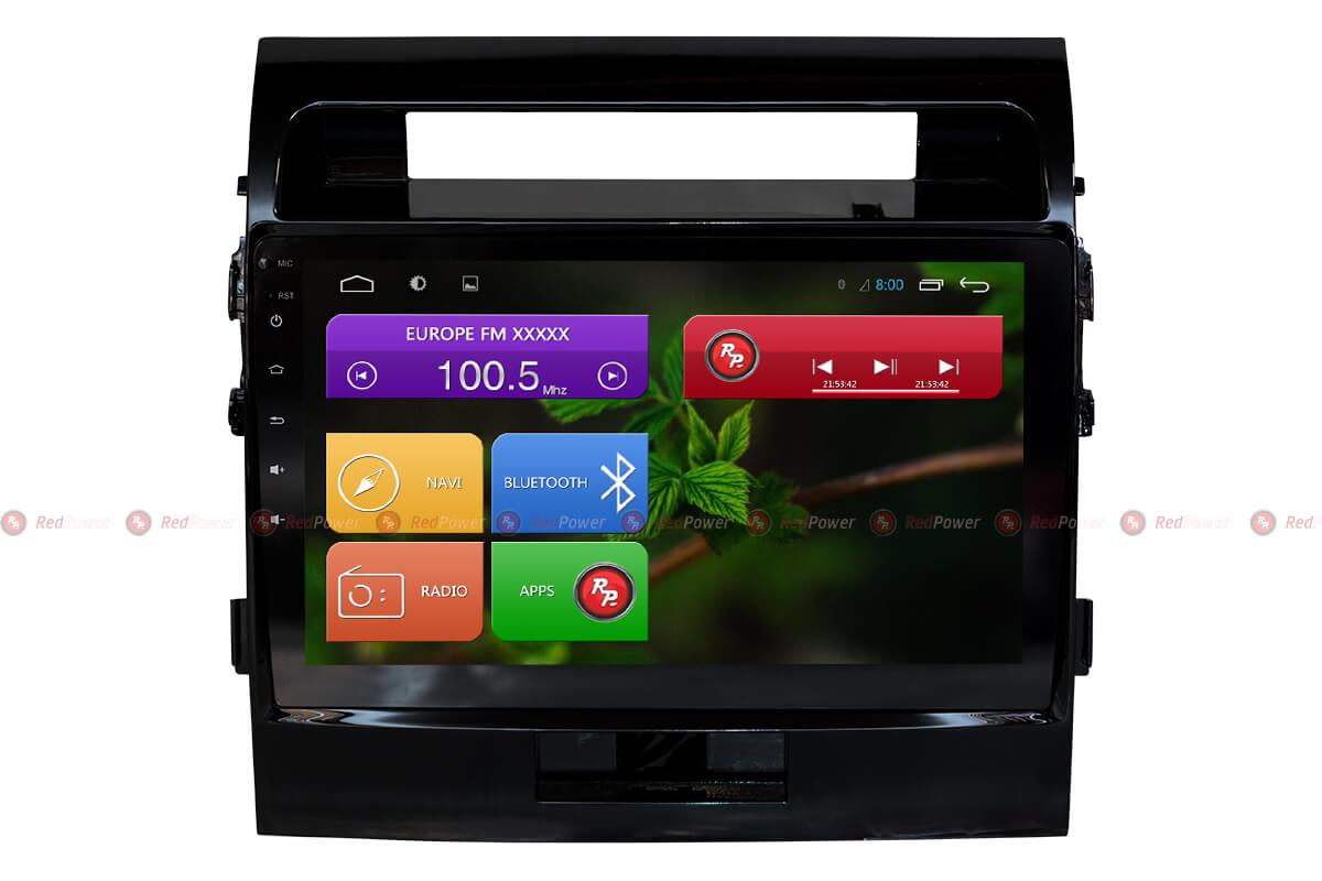 Штатная магнитола Redpower 31200 R IPS DSP для Toyota Land Cruiser 200 (Android 7) (+ Камера заднего вида в подарок!)
