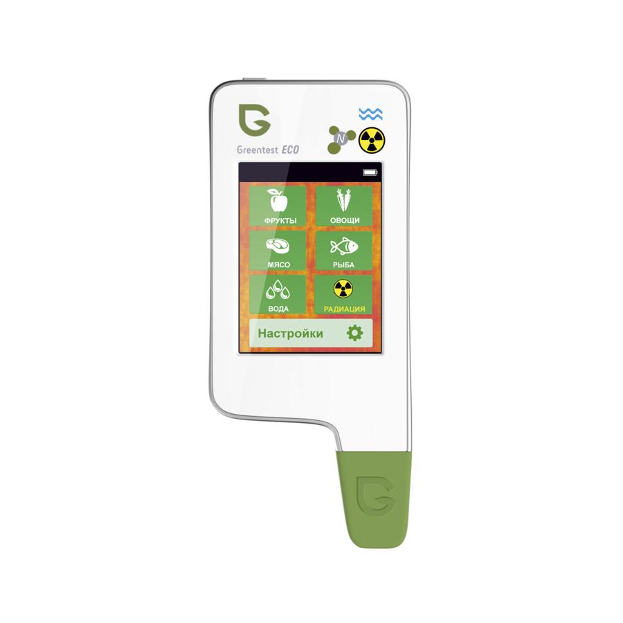 Нитратомер, измеритель жёсткости воды и дозиметр GREENTEST ECO 5Нитрат тестеры<br>Greentest ECO 5 – это 3-в-1! Вы сможете с его помощью проверить продукты на нитраты, измерить жёсткость воды и уровень радиации в вашей квартире или загородном доме. И все это – лишь одно компактное устройство, которое с лёгкостью поместится даже в вашем кармане!