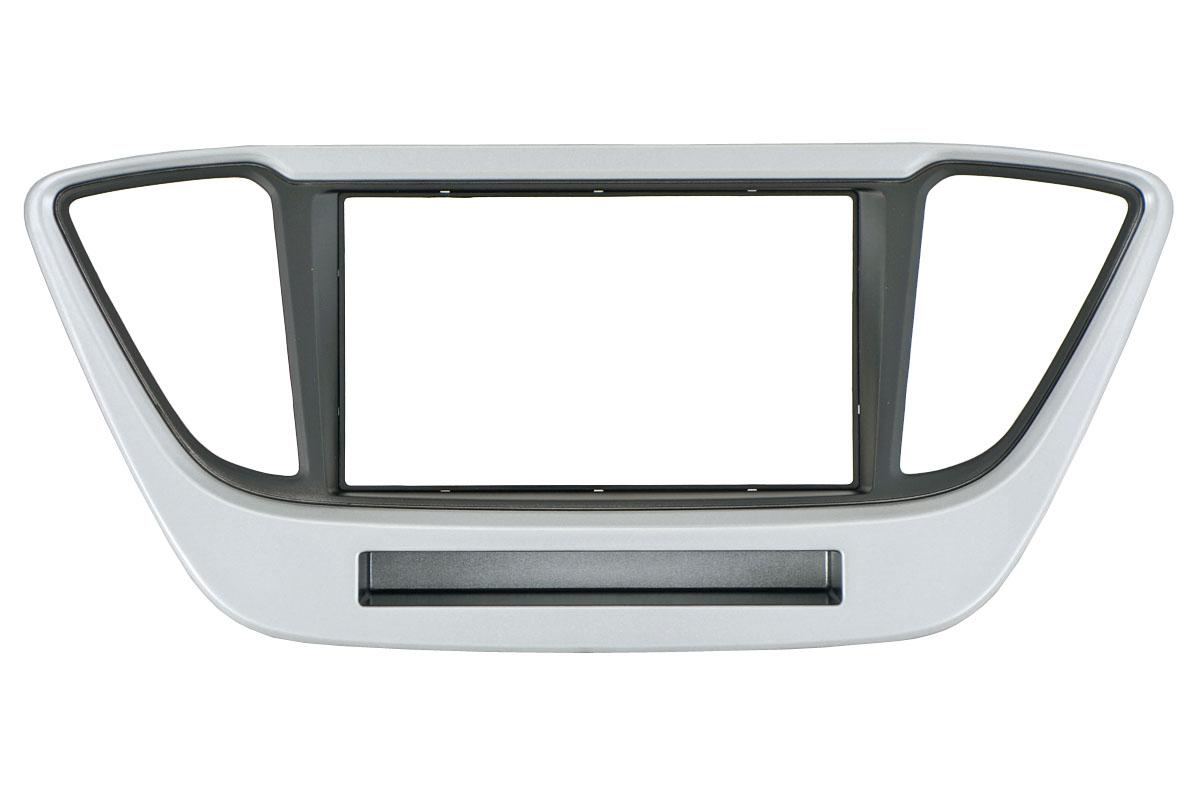 Переходная рамка Incar RHY-N55 для Hyundai Solaris 2DIN переходная рамка incar rhy n52 для hyundai i 20 крепеж