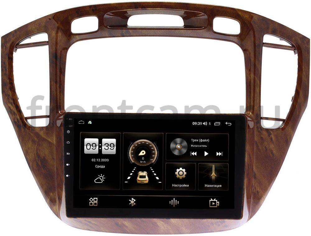 Штатная магнитола LeTrun 4166-9293 для Toyota Highlander (U20) 2001-2007 (орех, для авто без монитора) на Android 10 (4G-SIM, 3/32, DSP, QLed) (+ Камера заднего вида в подарок!)