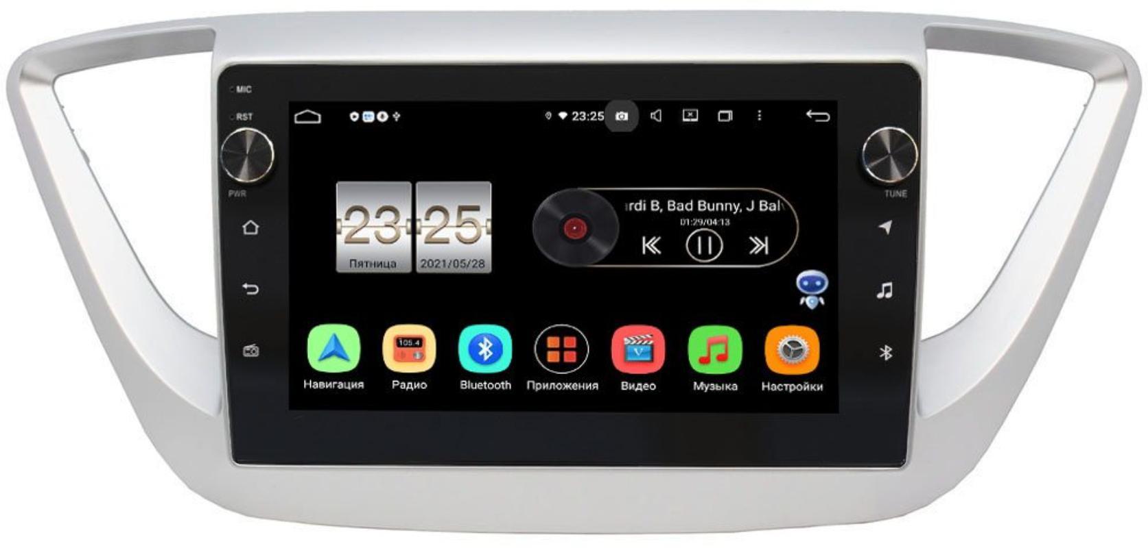 Штатная магнитола Hyundai Solaris II 2017-2021 LeTrun BPX609-9039 на Android 10 (4/64, DSP, IPS, с голосовым ассистентом, с крутилками) (+ Камера заднего вида в подарок!)