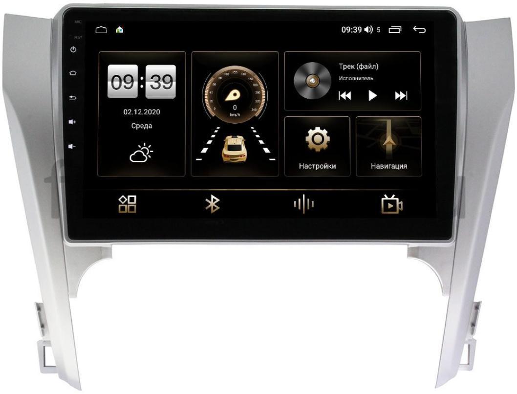 Штатная магнитола LeTrun 3799-1003 для Toyota Camry V50 2011-2014 на Android 10 (4/64, DSP, QLed) С оптическим выходом (для авто с камерой, JBL) (+ Камера заднего вида в подарок!)