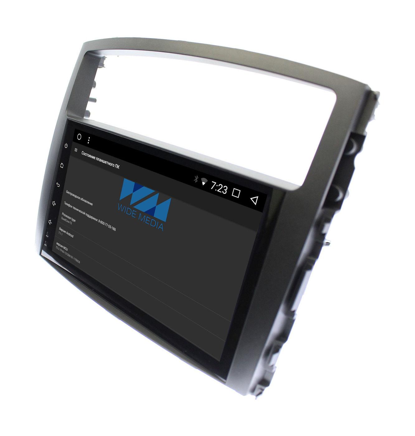 Штатная магнитола Wide Media WM-CF3046NB для Mitsubishi Pajero IV 2006-2018 (Rockford Fosgate) Android 7.1.2