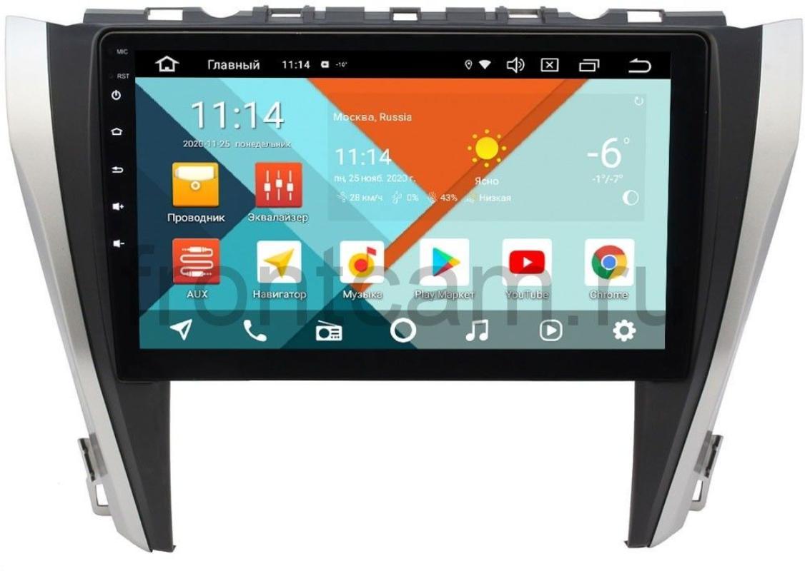 Штатная магнитола Wide Media KS1027QM-2/32 DSP CarPlay 4G-SIM для Toyota Camry V55 2014-2018 на Android 10 (для авто с камерой, JBL) (+ Камера заднего вида в подарок!)