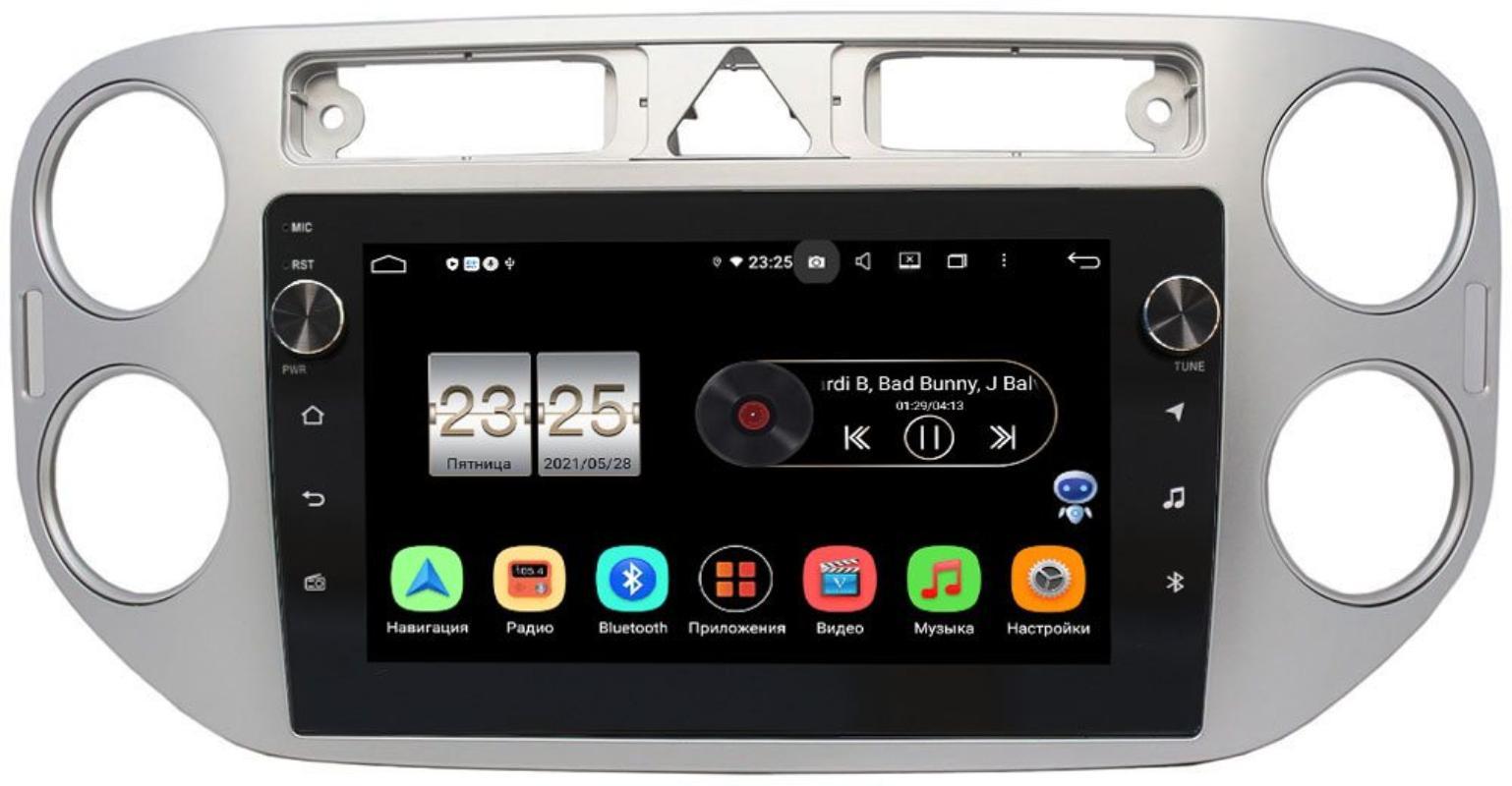 Штатная магнитола LeTrun BPX609-9048 для Volkswagen Tiguan 2007-2011, Golf Plus 2004-2014 на Android 10 (4/64, DSP, IPS, с голосовым ассистентом, с крутилками) (+ Камера заднего вида в подарок!)