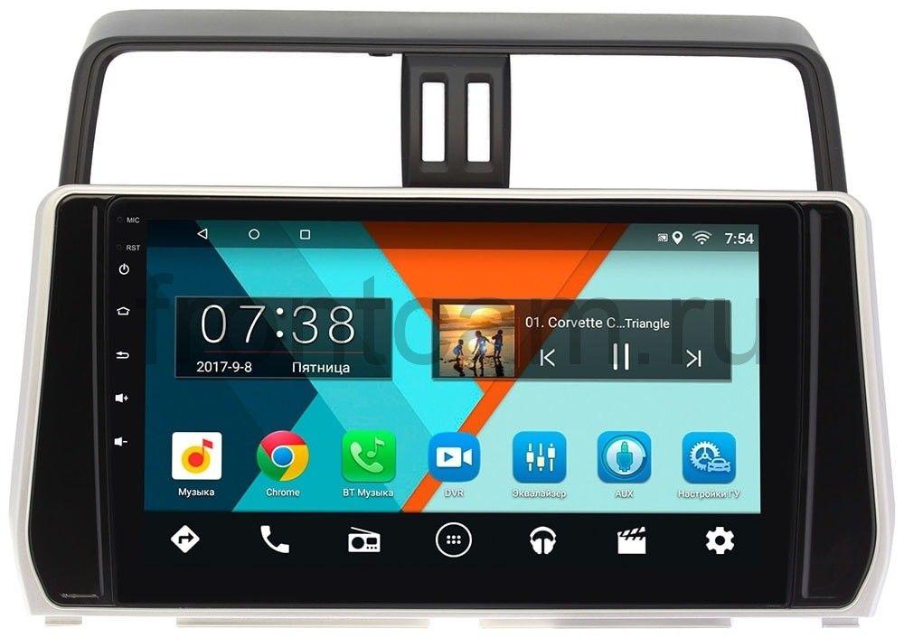 Фото - Штатная магнитола Toyota Land Cruiser Prado 150 2017-2019 Wide Media MT1038MF-1/16 на Android 7.1.1 (для авто без 4 камер) (+ Камера заднего вида в подарок!) авто