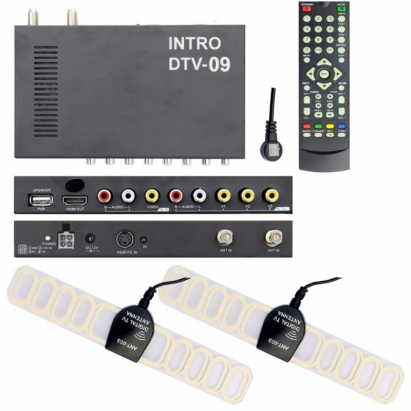 Автомобильный цифровой TВ-тюнер Incar DTV-09 new car digital tv box dvb t dual tuner mpeg2 and mpeg4 avc h 264 for receiver middle east australia