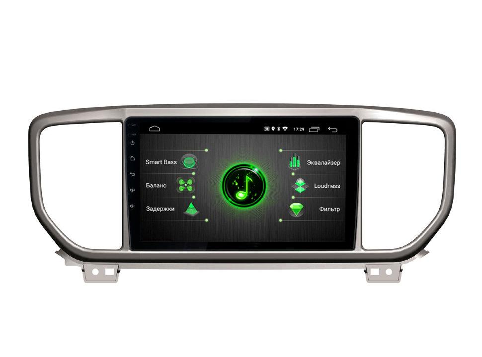 Штатная магнитола Incar DTA-1810 для KIA Sportage 18+ Android 9.0 с процессором DSP (+ Камера заднего вида в подарок!)