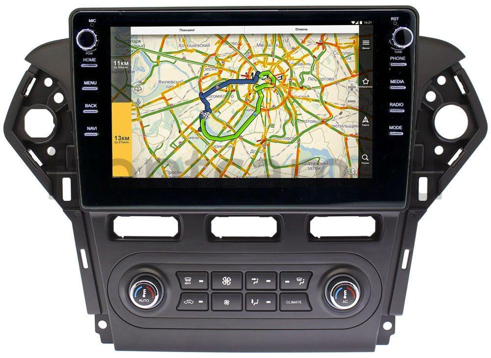 Штатная магнитола Ford Mondeo IV 2007-2015 (черная) LeTrun 3149-1018 для авто с Blaupunkt на Android 10 (DSP 2/16 с крутилками) (+ Камера заднего вида в подарок!)