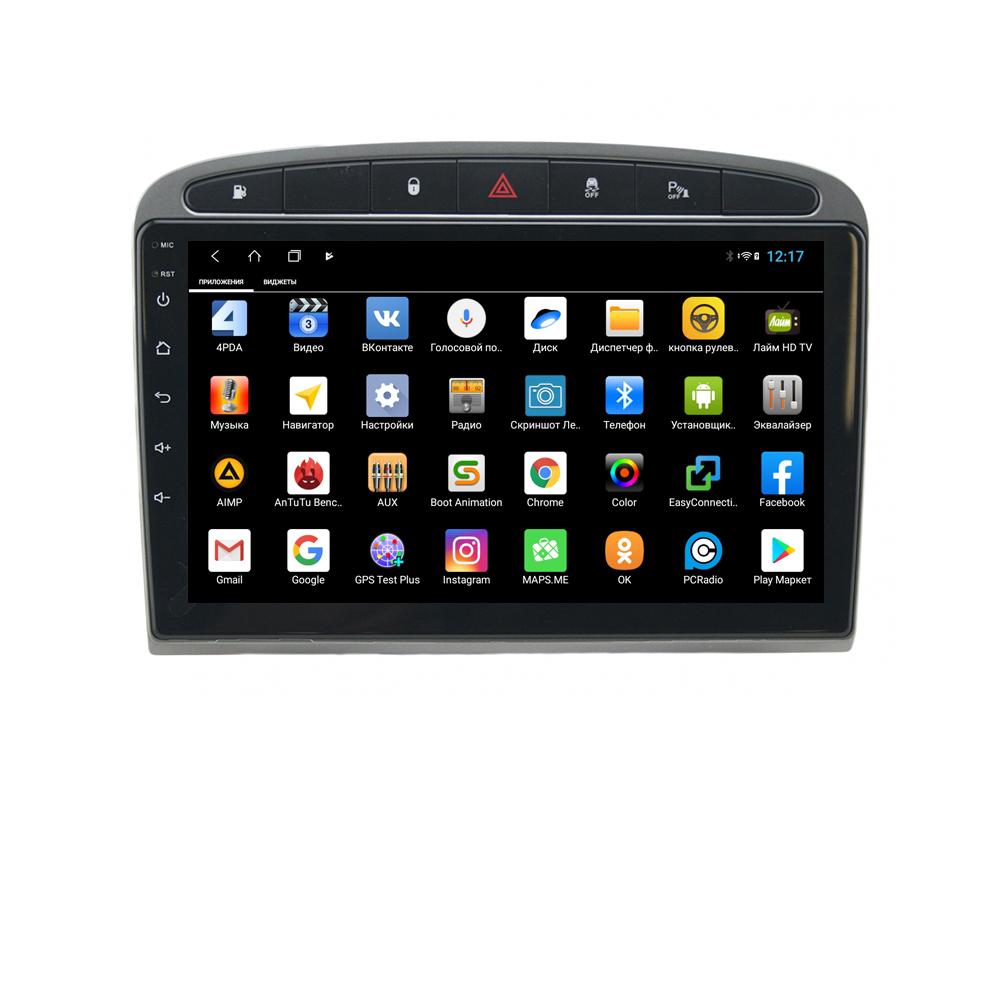 Штатная магнитола Parafar для Peugeot 308 и 408 2010-2017 черная Android 8.1.0 (PF081XHD-B) (+ Камера заднего вида в подарок!)