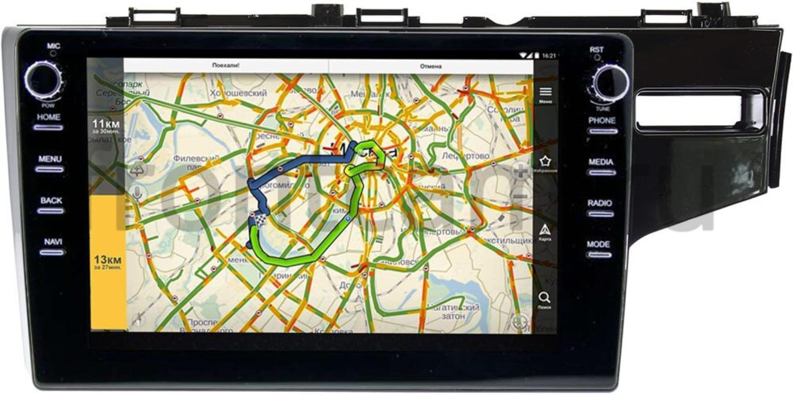 Штатная магнитола LeTrun 3149-10-508 для Honda Fit III 2013-2021 (правый руль) на Android 10 (DSP 2/16 с крутилками) (+ Камера заднего вида в подарок!)