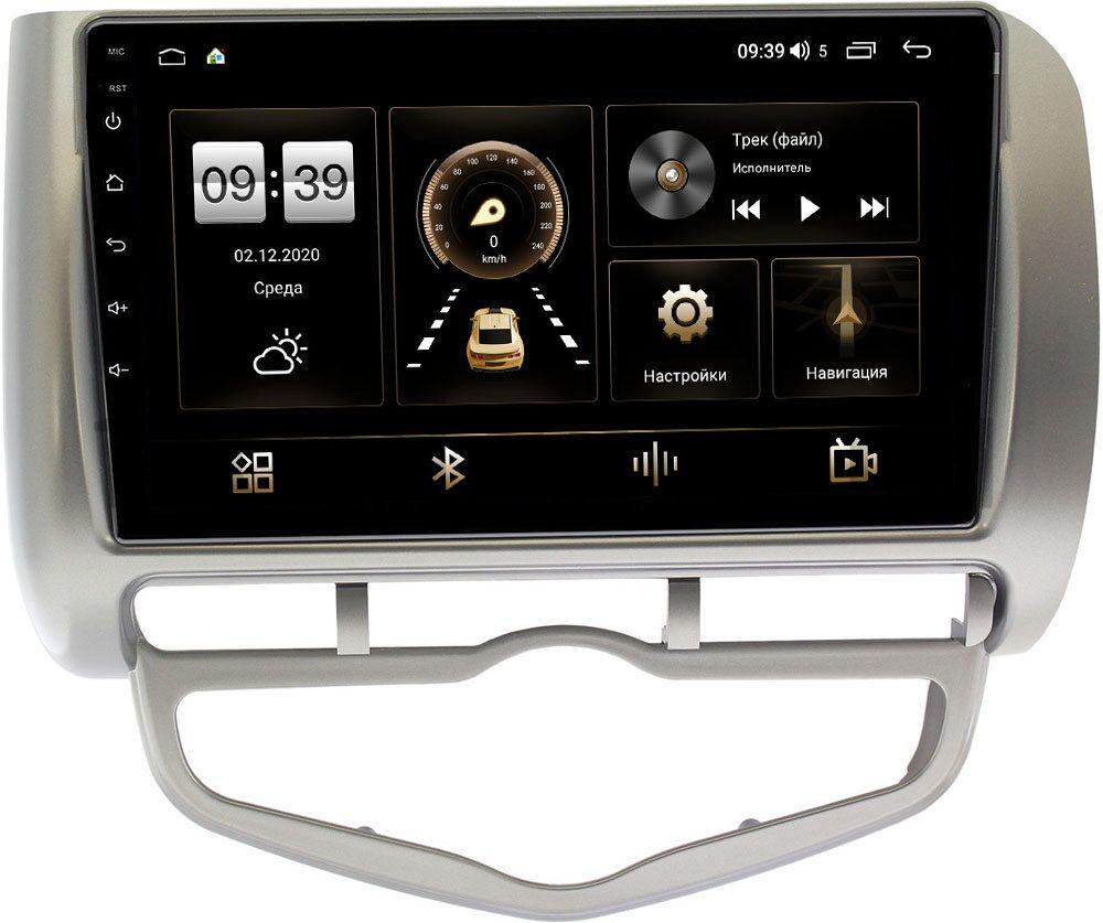 Штатная магнитола LeTrun 4166-9095 для Honda Fit I 2001-2008 (правый руль) на Android 10 (4G-SIM, 3/32, DSP, QLed) (+ Камера заднего вида в подарок!)