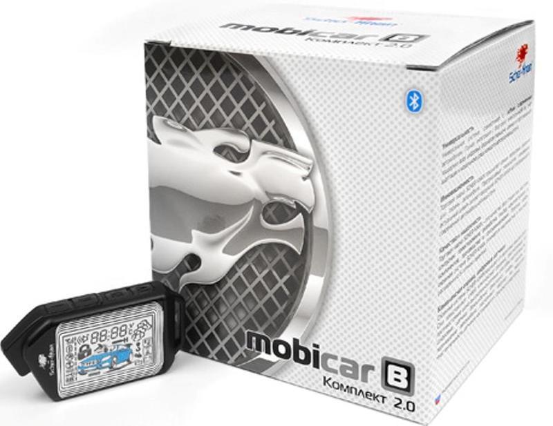 Автосигнализация Scher-Khan Mobicar B v 2.0 + модуль автозапуска М1 автосигнализация scher khan mobicar а v 2 0 модуль автозапуска м1