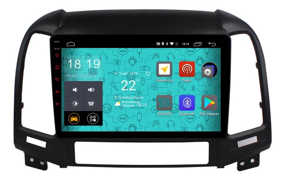 Штатная магнитола Parafar 4G/LTE с IPS матрицей для Hyundai Santa Fe 2 2009-2011 на Android 7.1.1 (PF208) (+ Камера заднего вида в подарок!)