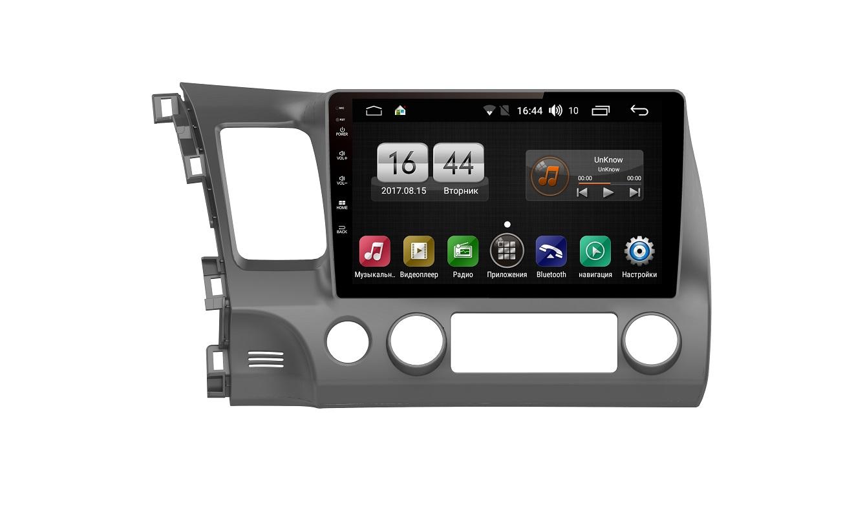 Штатная магнитола FarCar s185 для Honda Civic 2007-2012 на Android (LY044R) (+ Камера заднего вида в подарок!)