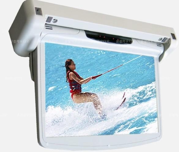 Моторизированный потолочный монитор XM-1230RDMD (12.3 FullHD) серый (+ Двухканальные наушники в подарок!)