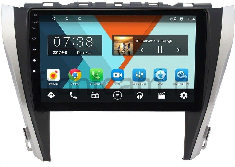Штатная магнитола Toyota Camry V55 2014-2018 Wide Media MT1027MF-2/16 на Android 7.1.1 (для авто с камерой, JBL) (+ Камера заднего вида в подарок!)