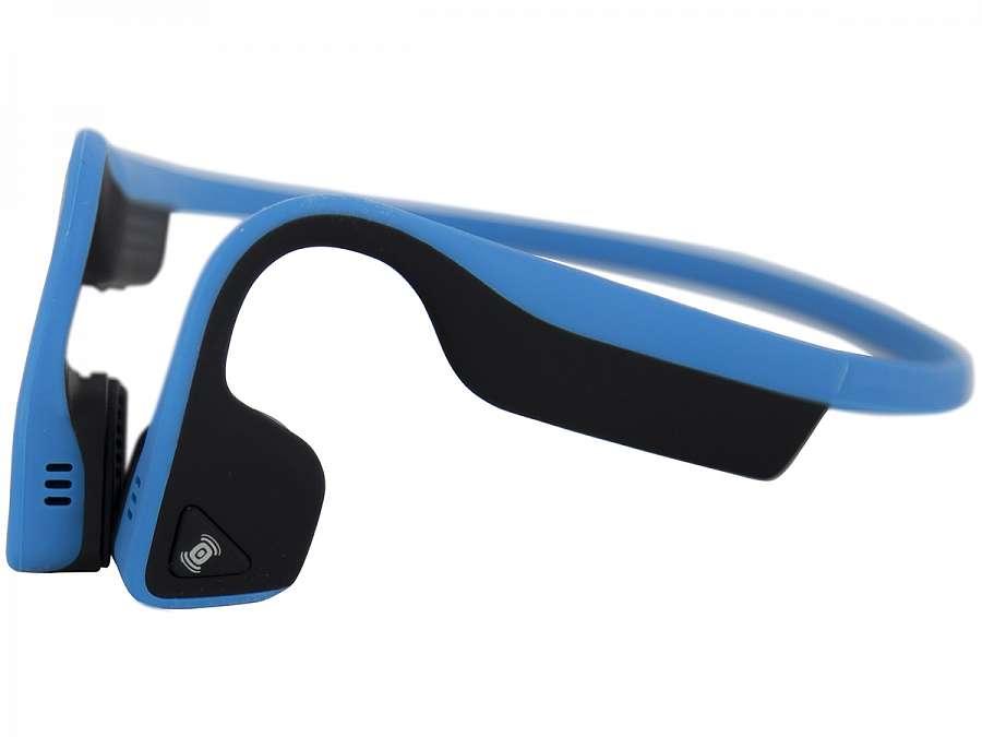 Беспроводные наушники с костной проводимостью звука AfterShokz Trekz Titanium голубые aftershokz trekz titanium as600sg стерео bluetooth гарнитура slate gray