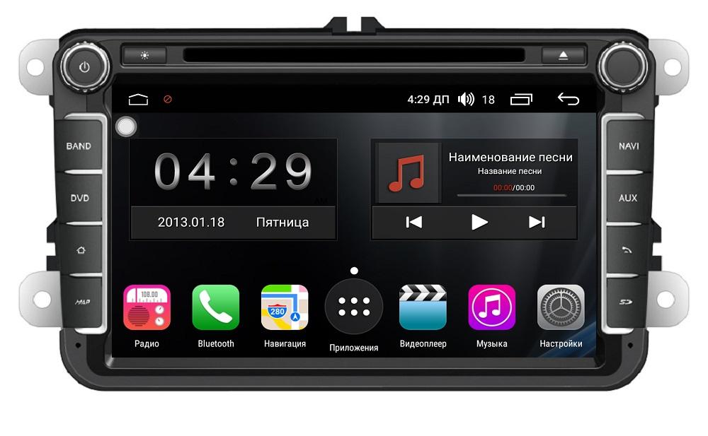 Штатная магнитола FarCar s300-SIM 4G для Volkswagen, Skoda на Android (RG370) (+ Камера заднего вида в подарок!)