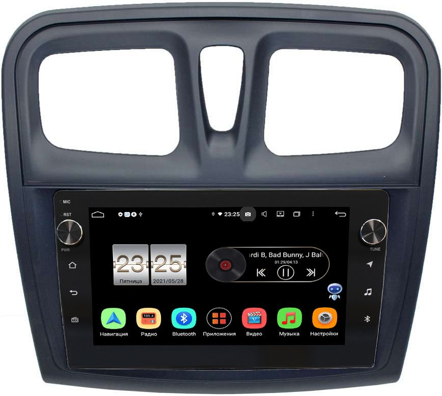 Штатная магнитола Renault Logan II 2013-2020, Sandero II 2013-2020 LeTrun BPX609-3010 на Android 10 (4/64, DSP, IPS, с голосовым ассистентом, с крутилками) (+ Камера заднего вида в подарок!)