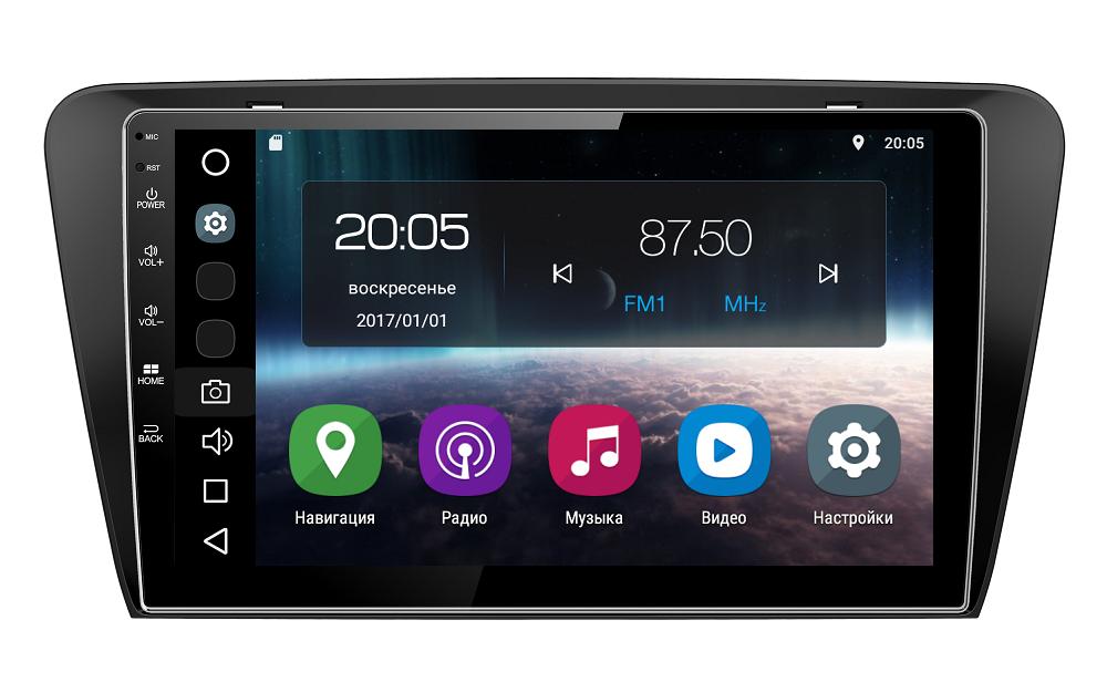 Штатная магнитола FarCar s200 для Skoda Octavia A7 на Android (V483R)