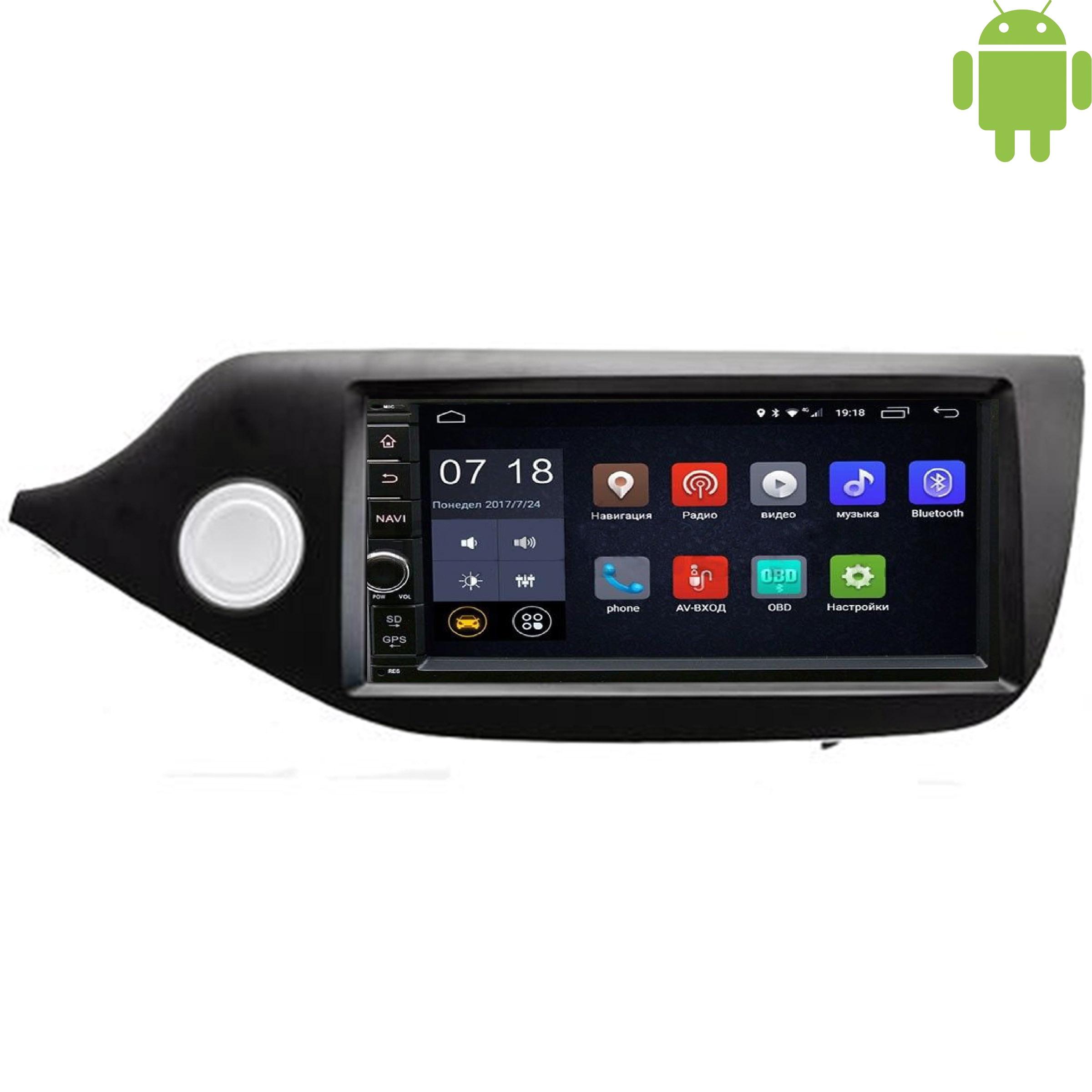 Штатная магнитола LeTrun 1968-RP-KICEF-50 для Kia Ceed II 2012-2018 (матовая) Android 6.0.1 (4G LTE 2GB) (+ Камера заднего вида в подарок!)