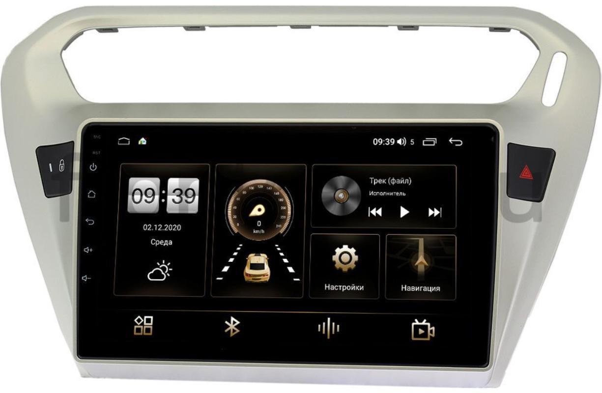 Штатная магнитола Citroen C-Elysee 2012-2021 LeTrun 4166-9118 на Android 10 (4G-SIM, 3/32, DSP, QLed) (+ Камера заднего вида в подарок!)
