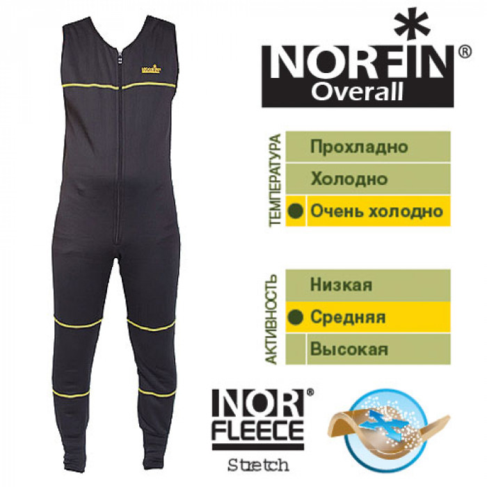 Термобелье Norfin OVERALL 01 р.S термобелье norfin overall pro 02 р m