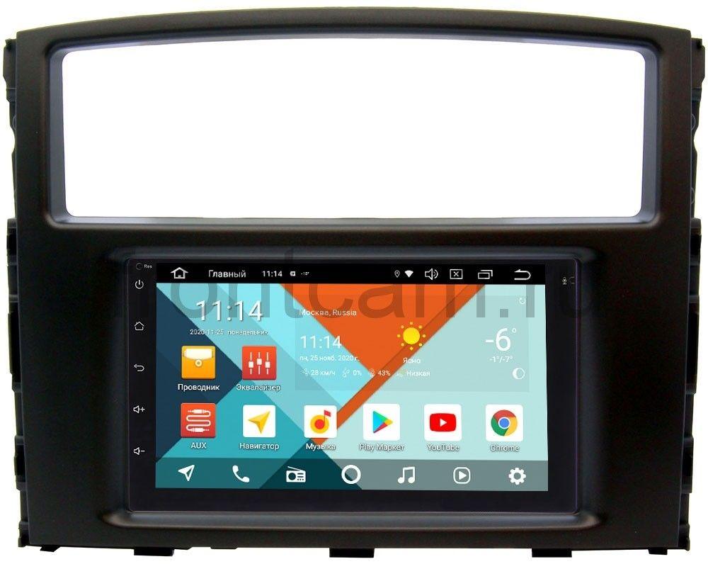 Штатная магнитола Mitsubishi Pajero IV 2006-2019 Wide Media MT7001PK-2/16-RP-MMPJ7Xc-24 на Android 9.1 (DSP 3G-SIM) (+ Камера заднего вида в подарок!)