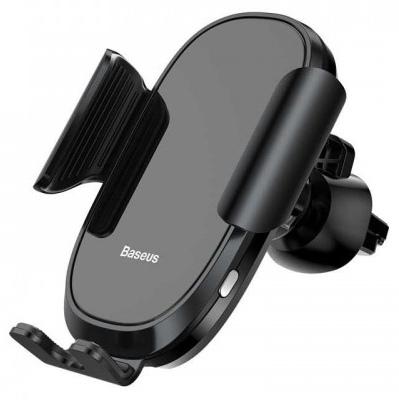 Держатель для смартфона с автоматическим зажимом Baseus Smart Car Mount Cell - Черный (SUGENT-ZN01) автомобильный держатель для телефона на торпеду baseus mouth car mount черный sudz 01