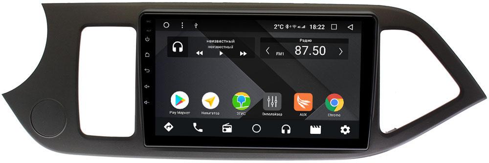 Штатная магнитола Kia Picanto II 2011-2016 Wide Media CF9144-OM-4/64 на Android 9.1 (TS9, DSP, 4G SIM, 4/64GB) (+ Камера заднего вида в подарок!)