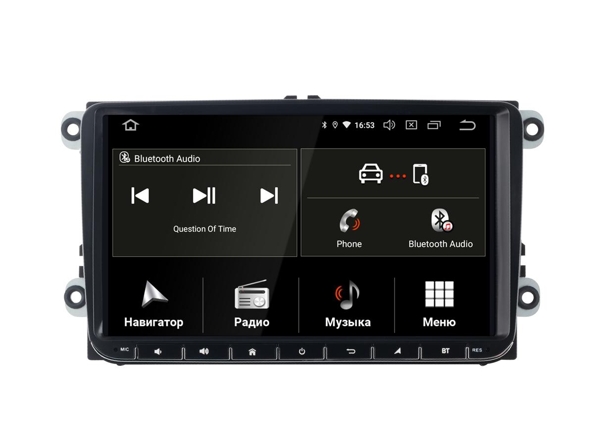 Штатная магнитола InCar TSA-8644 для VW Polo sedan 2009+, Tiguan Golf 2008-12, Jetta 2005+, Passat 2007+, Touran Amarok Skoda, Seat Altea (Android 9.0) (+ Камера заднего вида в подарок!)