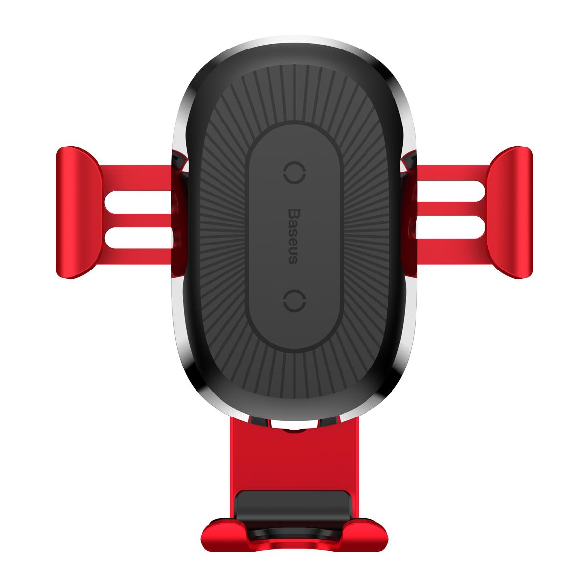 Фото - Беспроводное зарядное Baseus Wireless Charger Gravity Car Mount Red автодержатель