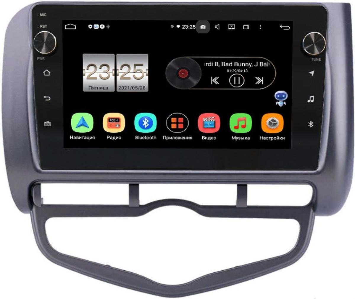 Штатная магнитола Honda Jazz I 2001-2008 (левый руль) LeTrun BPX609-9267 на Android 10 (4/64, DSP, IPS, с голосовым ассистентом, с крутилками) (+ Камера заднего вида в подарок!)