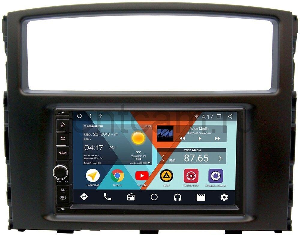 Штатная магнитола Wide Media WM-VS7A706NB-2/16-RP-MMPJ7Xc-24 для Mitsubishi Pajero IV 2006-2018 Android 7.1.2 (+ Камера заднего вида в подарок!) штатная магнитола wide media wm vs7a706nb 2 16 rp chtg 46 для gaz газель next android 7 1 2