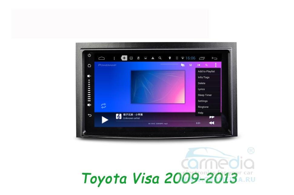 Штатная магнитола CARMEDIA DAFT-2716 DVD Toyota Venza 2008-2016 (+ камера заднего вида)