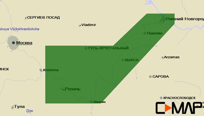 Карта C-MAP RS-N231 - Ока низовье
