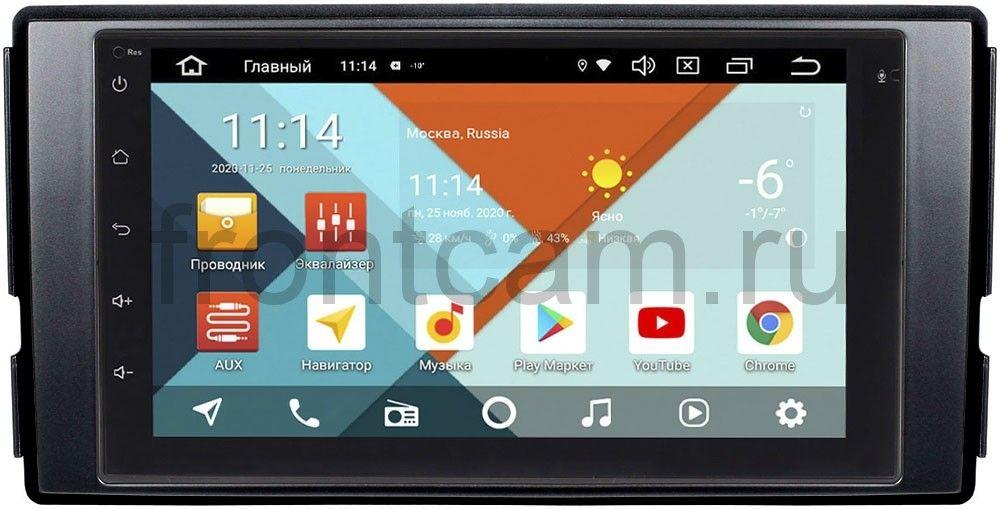 Магнитола в штатное место 2 din Hyundai Santa Fe II 2005-2012 Wide Media MT7001PK-2/16-RP-HDSFB-183 на Android 9.1 (DSP 3G-SIM) (+ Камера заднего вида в подарок!)