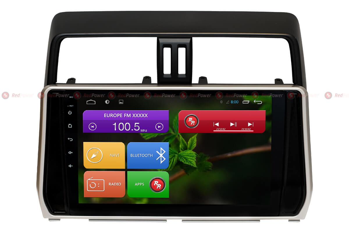 Автомагнитола для Toyota Prado 150 RedPower 31365 R IPS DSP ANDROID 7 (+ Камера заднего вида в подарок!)