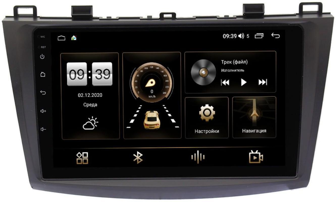 Штатная магнитола Mazda 3 (BL) 2009-2013 LeTrun 3792-9050 на Android 10 (4/64, DSP, QLed) С оптическим выходом (+ Камера заднего вида в подарок!)