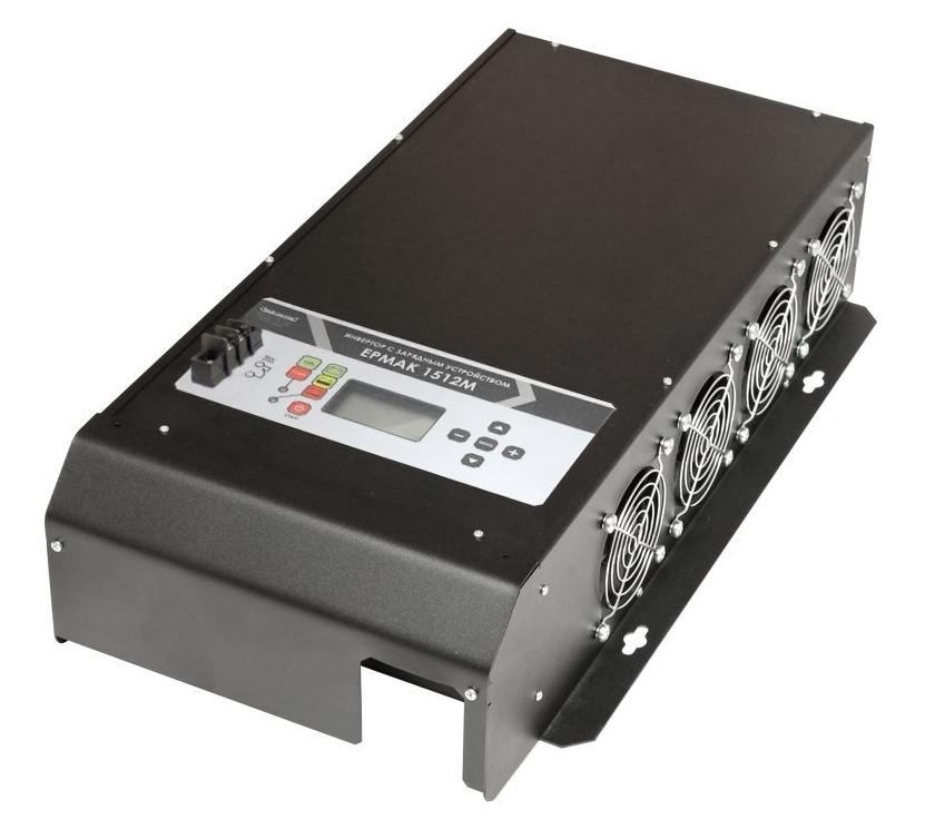 ЕРМАК 1512М OffLine, инвертор DC-AC с зарядным устройством, 12В/1500Вт (+ Автомобильные коврики в подарок!)