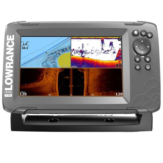 Lowrance HOOK2-7 with TripleShot US Coastal/ROW (+ Аккумулятор + З/У + Струбцина)
