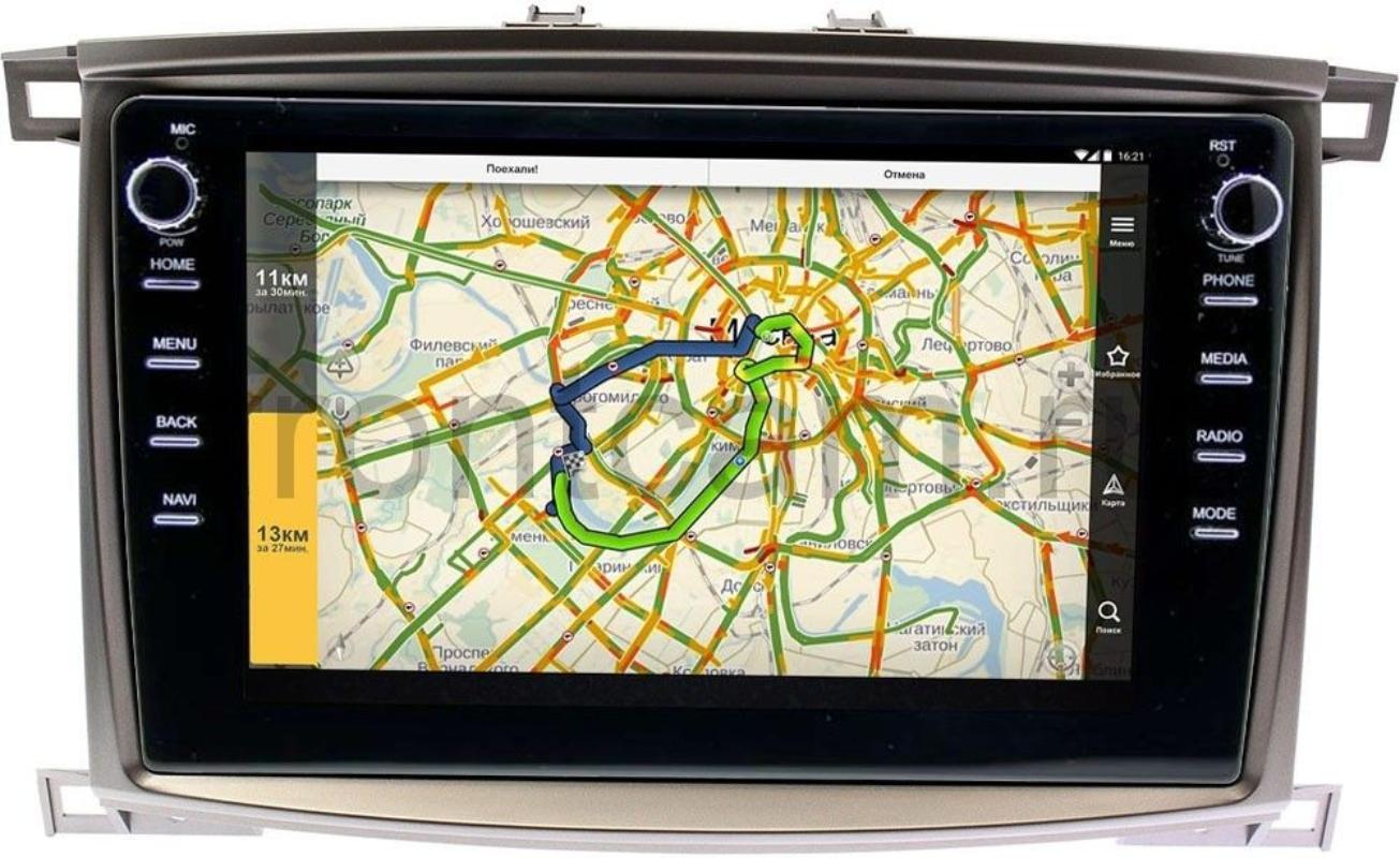 Штатная магнитола Lexus LX II 470 2003-2007 LeTrun 3149-1098 на Android 10 (DSP 2/16 с крутилками) (+ Камера заднего вида в подарок!)